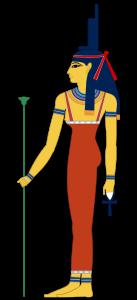 Aset with throne headdress