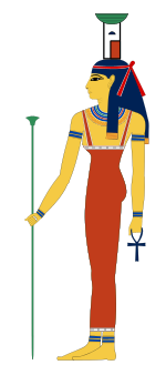 standing goddess Nephthys